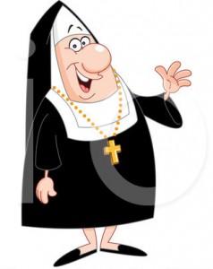 Nun Encouraging Gift Card Purchase